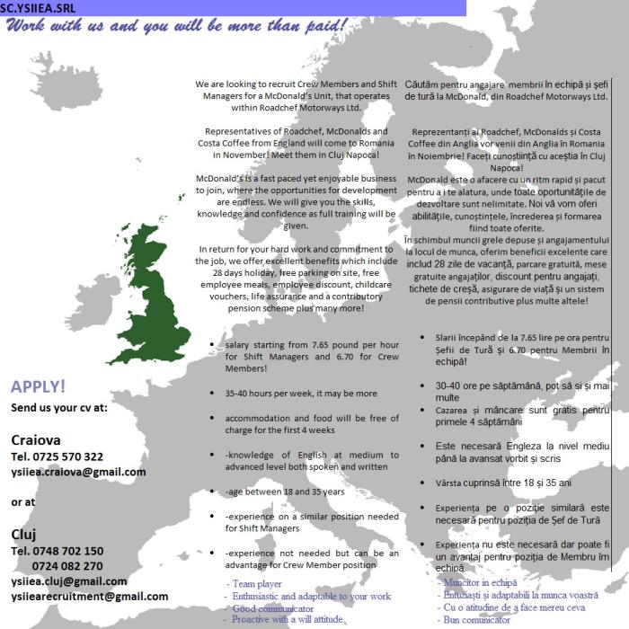Locuri de munca Anglia